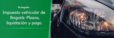 Impuesto de vehículos en Bogotá
