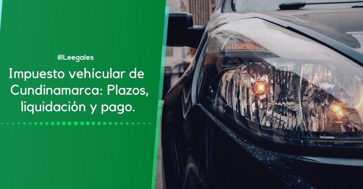 impuesto de vehículos en Cundinamarca