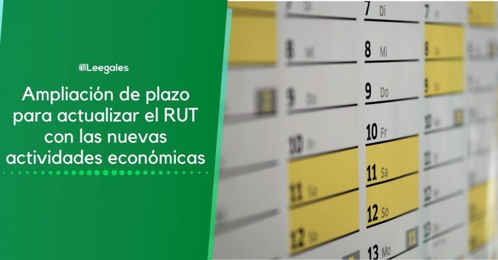 plazo para actualizar el RUT