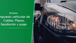 Impuesto vehicular de Caldas y sus municipios