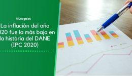 La inflación o IPC 2020: Hasta ahora la más baja en la historia del DANE