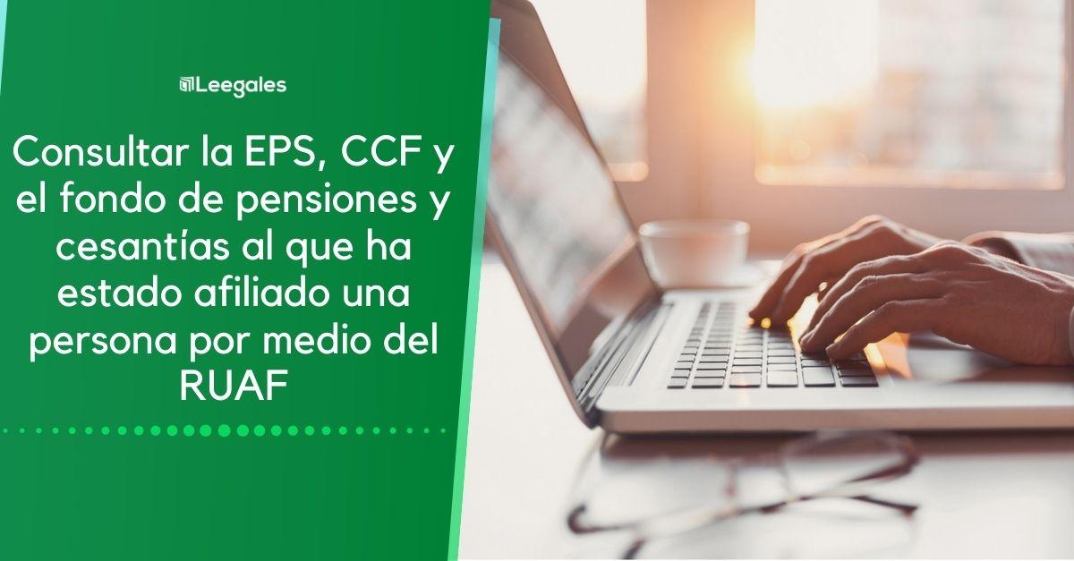RUAF: Consultar EPS, pensión y cesantías de una persona 4
