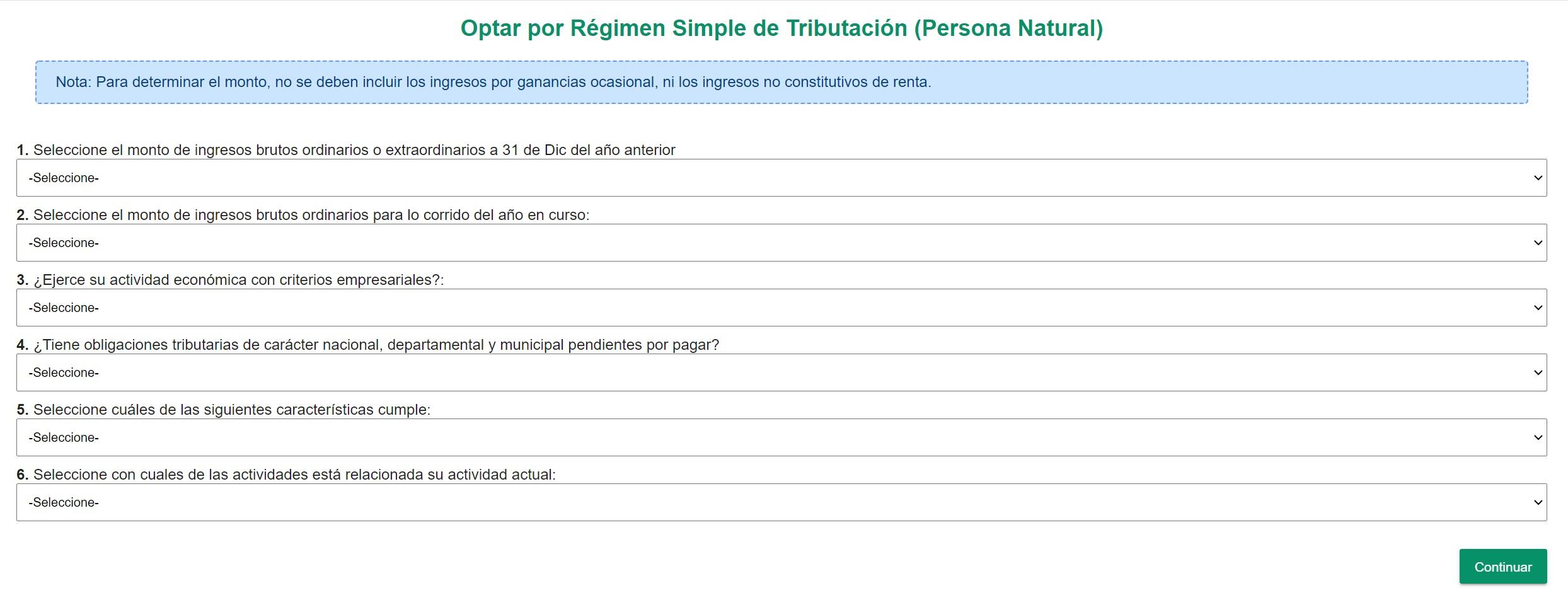cuestionario validación rst