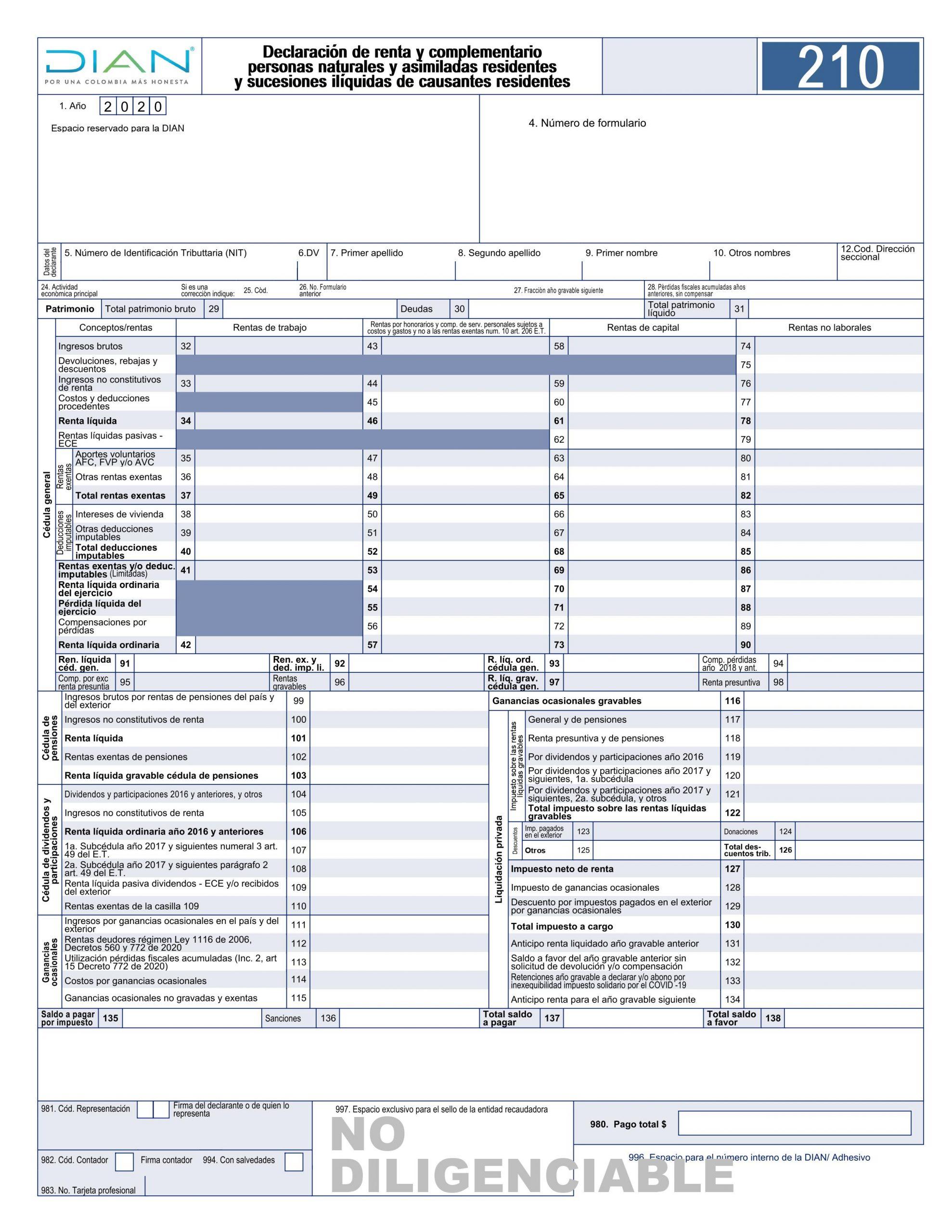 nuevo formulario 210