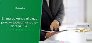 Plazo para actualizar los datos ante la Junta Central de Contadores en 2021
