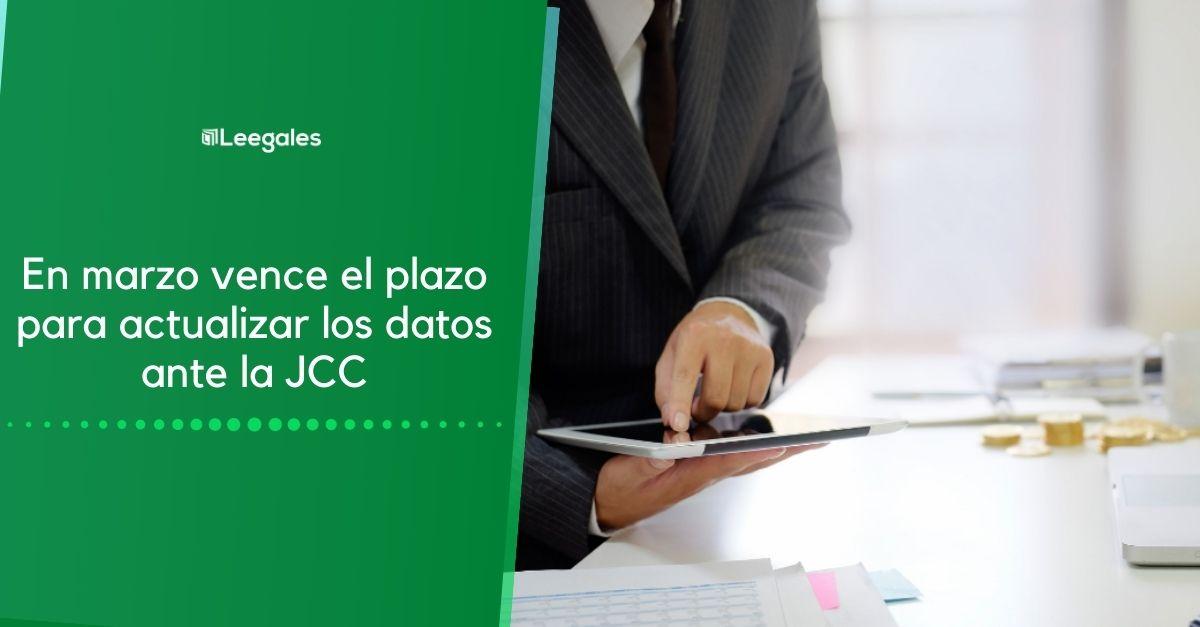 actualizar datos jcc