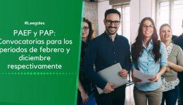 Convocatorias para el PAEF en marzo