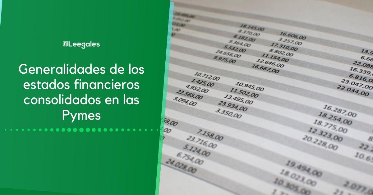 Estados financieros consolidados en las NIIF para Pymes 1