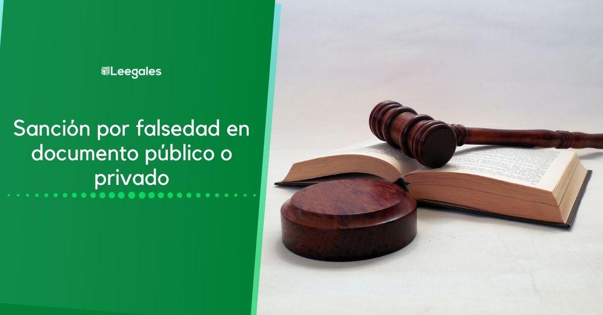 falsedad en documento público o privado