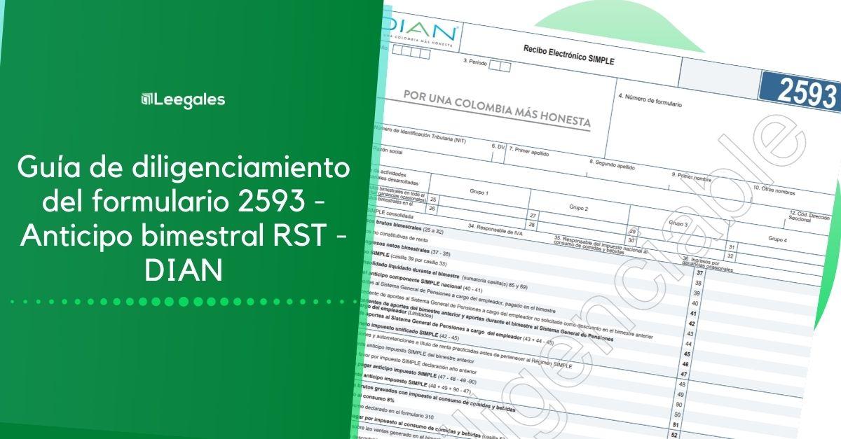 anticipo bimestral rst formulario 2593