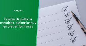 Políticas contables, estimaciones y errores – NIIF para Pymes
