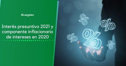 Interés presuntivo 2021 y componente inflacionario de intereses en 2020