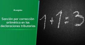 Sanción por corrección aritmética
