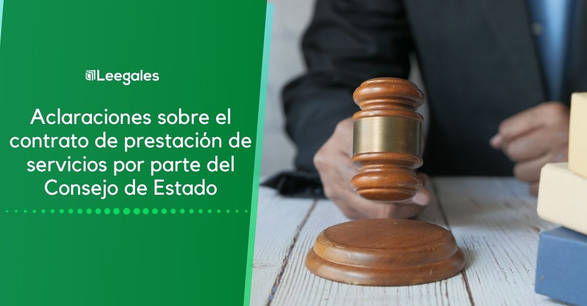 Aclaraciones sobre el contrato de prestación de servicios por parte del Consejo de Estado