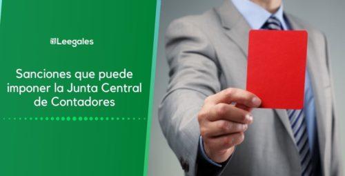 Sanciones que puede imponer la junta central de contadores – JCC
